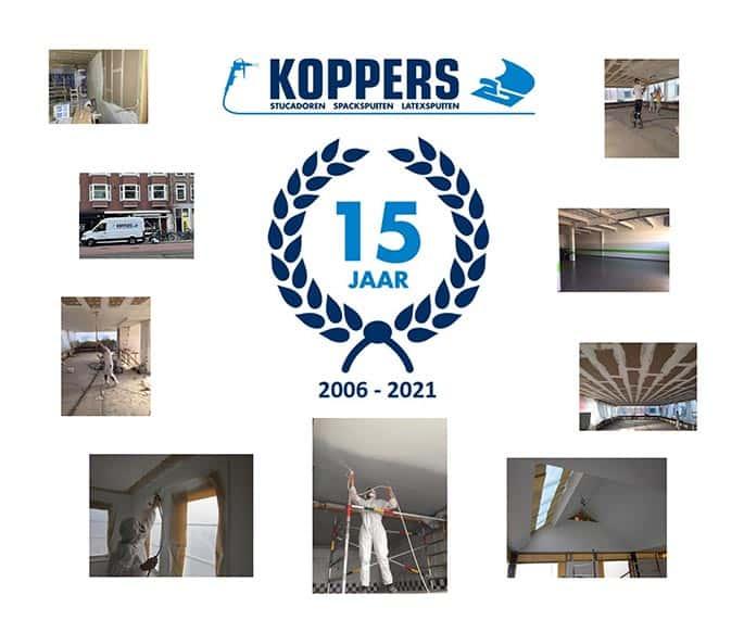 Stucadoorsbedrijf Koppers - Jubileum - 15 jaar